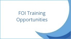 FOI Training Opportunities