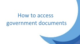 Do you want access to Government documents?